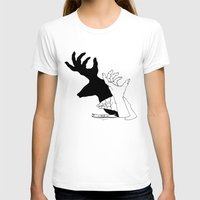 Hand-shadows Womens Fitted Tee White SMALL