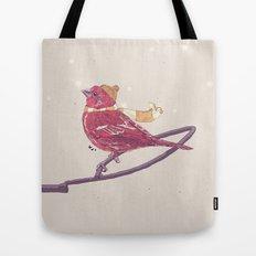 Winter Finch Tote Bag