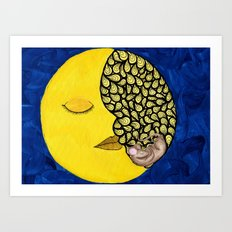 Mouse in the Moon Art Print