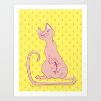 Cats With Tats Art Print