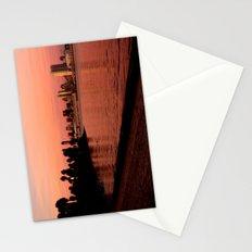 San Diego Skyline in Pink Stationery Cards