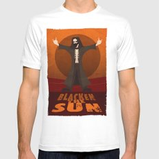 Blacken the Sun Mens Fitted Tee SMALL White