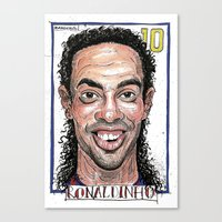 Canvas Print featuring RONALDINHO by BANDY