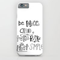 Nice + Risks = Happiness  iPhone 6 Slim Case