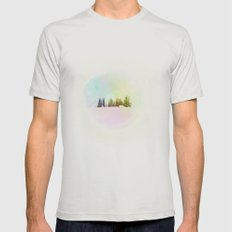 Breathe in the Crystal Air Mens Fitted Tee Silver SMALL