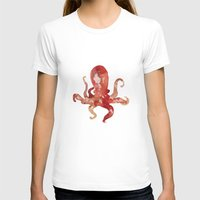 purple T-shirts featuring octo by Okti