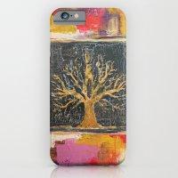 Autumn Window - Bronze Tree Painting iPhone 6 Slim Case