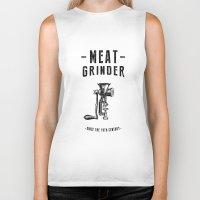 Meat Grinder Biker Tank