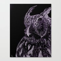 Inverted Horned Owl Canvas Print