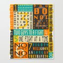THE 8 RULES OF FIGHT CLUB Canvas Print