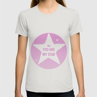 You are my star Womens Fitted Tee Silver SMALL