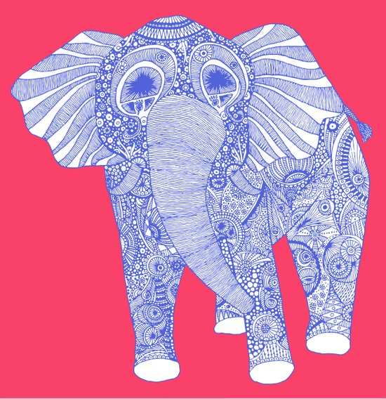 ornate Ellie in blue Art Print