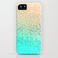 iPhone 5s & iPhone 5 Cases featuring GOLD AQUA by Monika Strigel