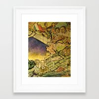 Mezzetta and Rockwell Framed Art Print