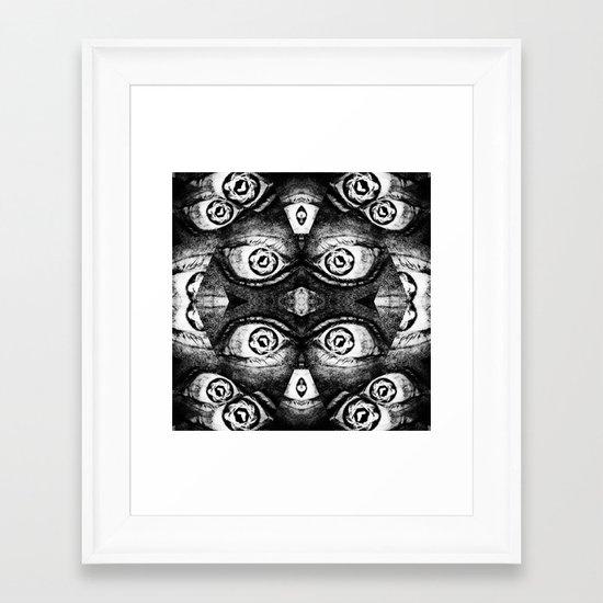 I've got even more eyes on you! Framed Art Print