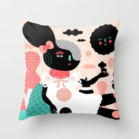 A Day In The Woods Throw Pillow