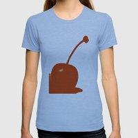 Cherry Womens Fitted Tee Athletic Blue SMALL