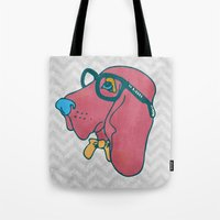 Rufus the Intelligent Geek Hound Tote Bag