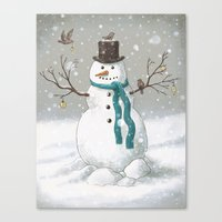 Christmas Snowman  Canvas Print