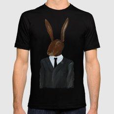 David Lynch | Rabbit Mens Fitted Tee Black SMALL