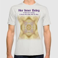 Her Inner Being Mens Fitted Tee Silver SMALL