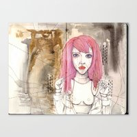 Poppet With Strings Canvas Print