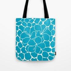 Hibiscus Animal: Caribbean Blue Tote Bag
