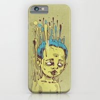 iPhone & iPod Case featuring The Golden Boy with Blue Hair by Dr. Lukas Brezak
