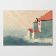 Canvas Print featuring Castle In The Sky by Schwebewesen • Rom…