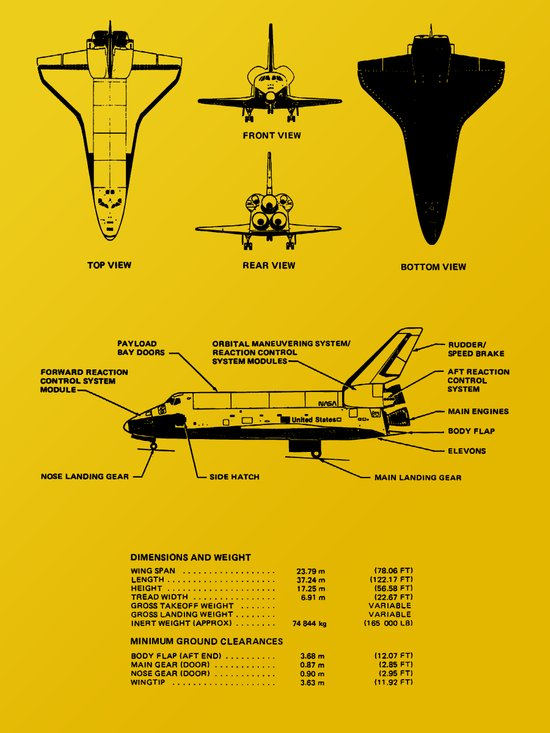 space shuttle dimensions - photo #22