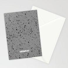 Retro Speckle Print - Grey Stationery Cards