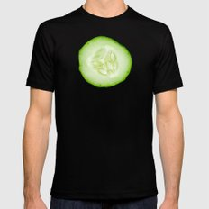 Cucumber Mens Fitted Tee Black SMALL
