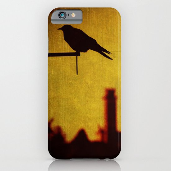Crow and castle with music sheet iPhone & iPod Case
