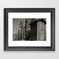 Outhouse Framed Art Print