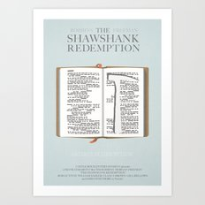 The Shawshank Redemption - minimal poster Art Print