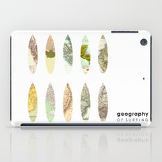 Geography of surfing iPad Case