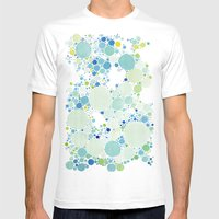 Watercolor Dots Mens Fitted Tee White SMALL