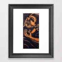 Strugglin Framed Art Print