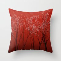 Trees redwine Throw Pillow