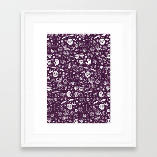 Day of the dead - Purple Framed Art Print