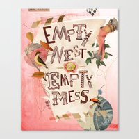 Empty Nest • Empty Mess Canvas Print