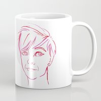 Pink Portrait Mug