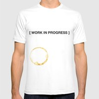 WORK IN PROGRESS Mens Fitted Tee White SMALL