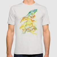 Iceland Abstracted #6 Mens Fitted Tee Silver SMALL