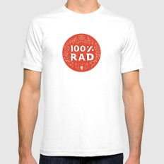 100% Rad White Mens Fitted Tee SMALL