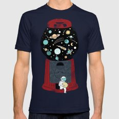My childhood universe Mens Fitted Tee Navy SMALL