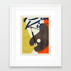 Art Supplies Framed Art Print