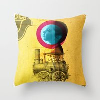 A childhood journey between reality and imagination... Throw Pillow
