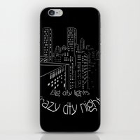 City nights, city lights iPhone & iPod Skin