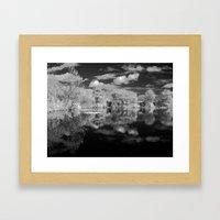 Dark reflections. Framed Art Print
